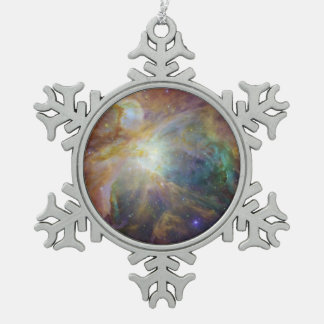 Spitzer and Hubble Create Colorful Masterpiece Pewter Snowflake Decoration