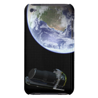 Spitzer departing the Earth soon after launch iPod Touch Case-Mate Case