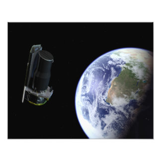 Spitzer departing the Earth soon after launch Art Photo