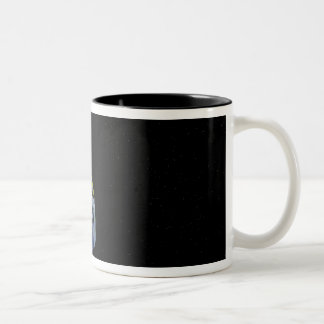 Spitzer points its high-gain antenna Two-Tone coffee mug