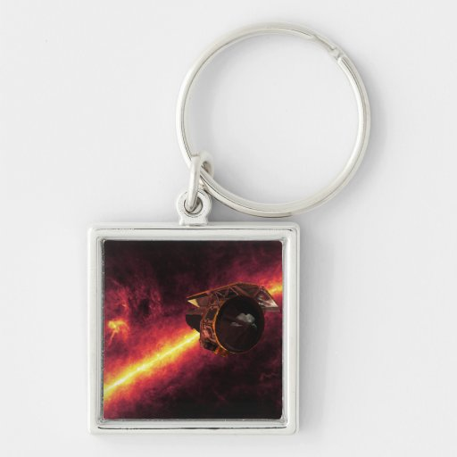 Spitzer seen against the infrared sky 2 keychains