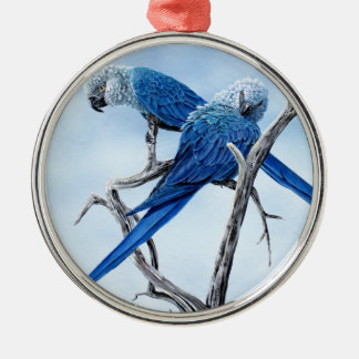 Spix macaw. The blue Parrot of the film Rio. Christmas Ornament