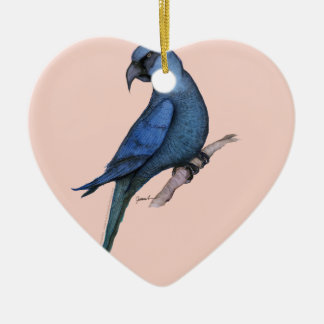 spix's macaw, tony fernandes christmas ornament