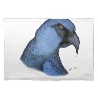 spixs macaw, tony fernandes placemat