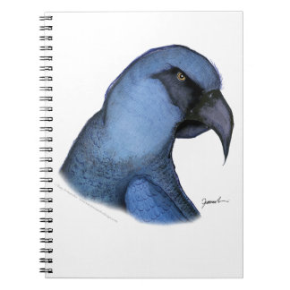 spixs macaw, tony fernandes spiral note book