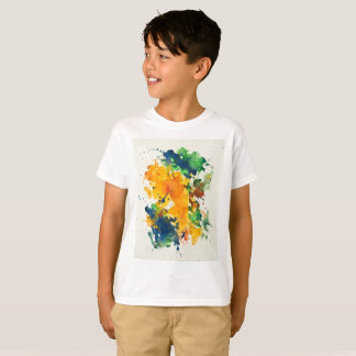 Splash Art Watercolor Colorful Abstract T-Shirt