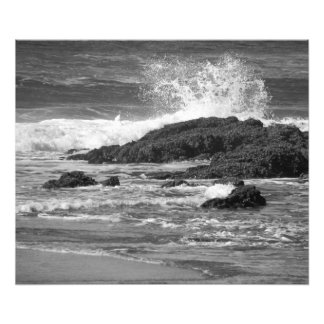 splash black and white photo art