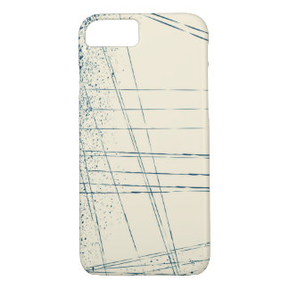 Splash & blue stripes iPhone 7 case