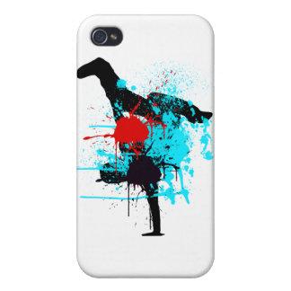 Splash BreakDance Skin iPhone 4 Cases