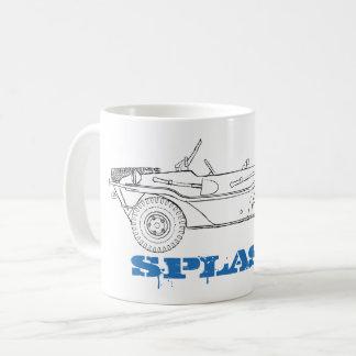 splash – distressed line drawing of a Schwimmwagen Coffee Mug