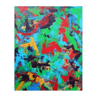 Splash-Hand Painted Abstract Brushstrokes Acrylic Print