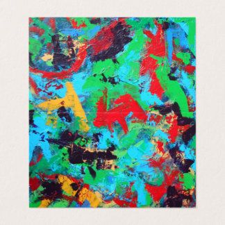 Splash-Hand Painted Abstract Brushstrokes Business Card