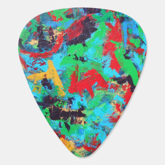 Splash-Hand Painted Abstract Brushstrokes Plectrum