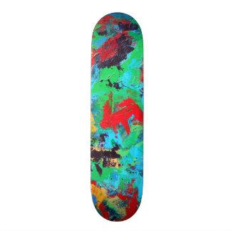Splash-Hand Painted Abstract Brushstrokes Skate Decks