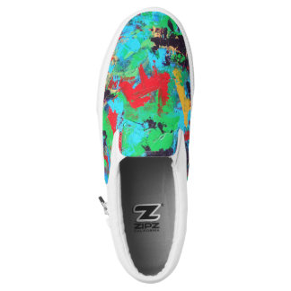 Splash-Hand Painted Abstract Brushstrokes Slip-On Shoes