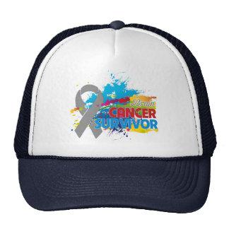 Splash of Color - Brain Cancer Survivor Cap