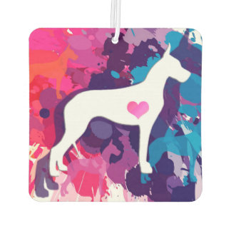 Splash of Color Great Dane Car Air Freshener