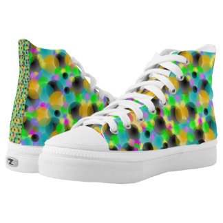 Splash of Color High Tops Printed Shoes