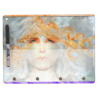Splash of Color Make Up Art Fantasy Dry Erase Board With Key Ring Holder