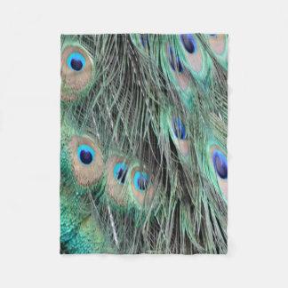 Splash of Color Peacock Fleece Blanket
