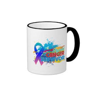 Splash of Color - Thyroid Cancer Survivor Ringer Mug