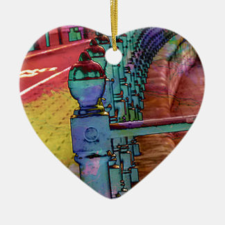 Splash of colour. ceramic heart decoration