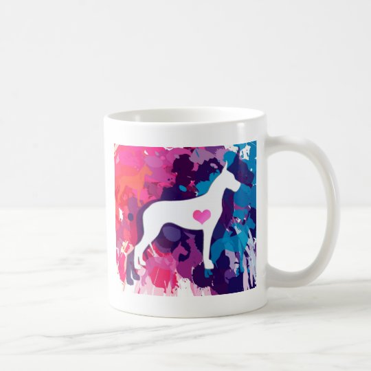 Splash of Colour-ful Danes Coffee Mug