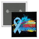 Splash of Colour - Prostate Cancer Survivor Pinback Button