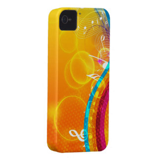 Splash of Musical Color iPhone 4 Cover