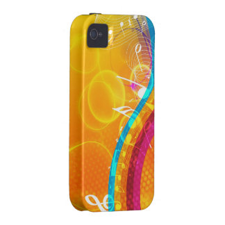 Splash of Musical Color Vibe iPhone 4 Cases