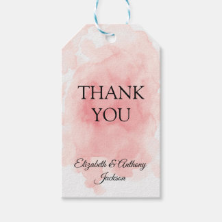 Splash of Pink Elegant Wedding Gift Tags