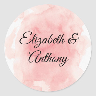 Splash of Pink Wedding Invitation Sticker