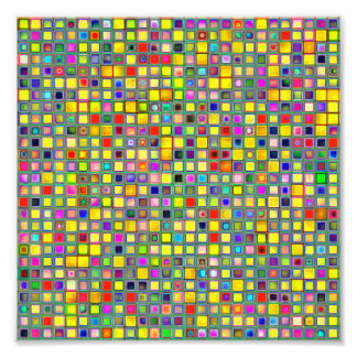 Splash Of Yellow Multicolored 'Clay' Tile Pattern Photo