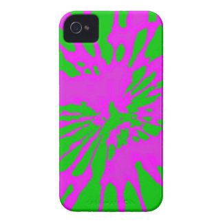 Splash Pattern Green Pink Abstract iPhone 4 Case-Mate Case