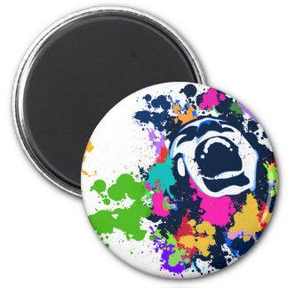 Splash Scream 6 Cm Round Magnet