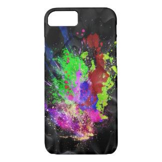 splashes on black iPhone 7 case