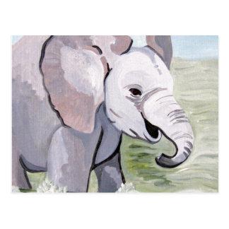 Splashing About Baby Elephant (K.Turnbull Art) Post Card