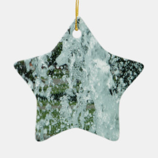 Splashing Fountain Water Christmas Ornament