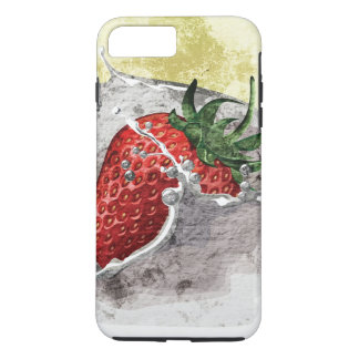Splashing Strawberry iPhone 7 Plus Case