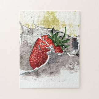 Splashing Strawberry Jigsaw Puzzle