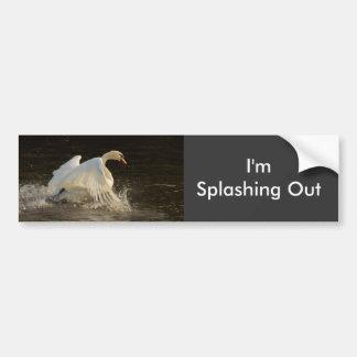 Splashing Swan Bumper Sticker