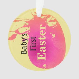 Splashing Watercolor Easter Egg Ornament