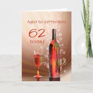 62 birthday cards zazzle uk splashing wine 62nd birthday card m4hsunfo