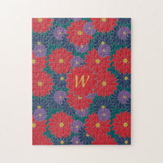 Splashy Fall Floral Puzzle