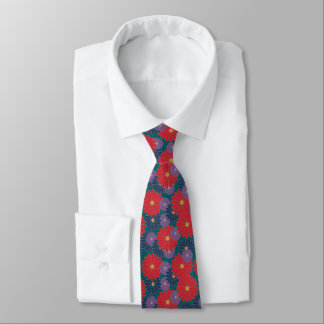 Splashy Fall Floral Tie