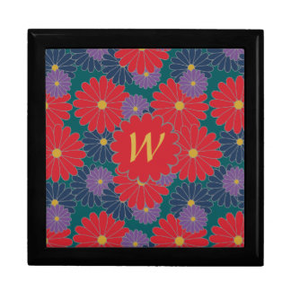 Splashy Fall Floral Tile Box