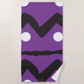 Splashy geometric beach towel