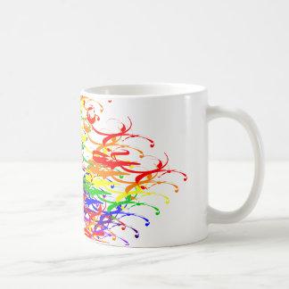 Splashy Swirls Multicolored Pattern Mug