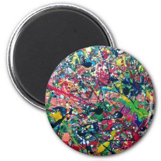 splat artistic design painting magnet