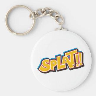 Splat Cartoon Bang Boom Basic Round Button Key Ring